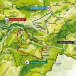 Cartes des parcours VTT site FFC Cotteuge Sancy