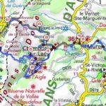 carte parcours vélo massif du sancy auvergne